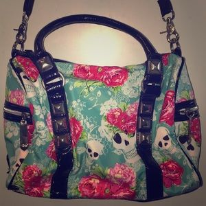 Betsey Johnson Skulls and Roses Bag